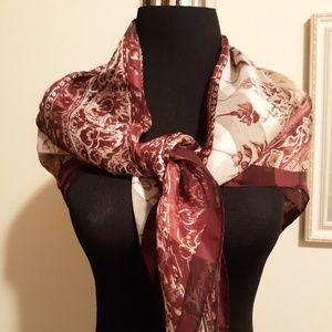 """100% Silk Scarf by Anne Klein 35""""W x 35""""L EUC"""